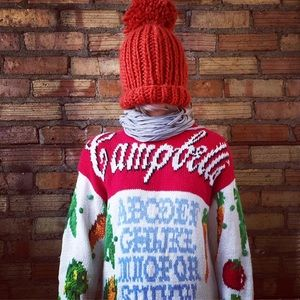 Vtg 80's Campbell's Soup knit sweater